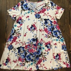 Floral Print Stretchy Dress